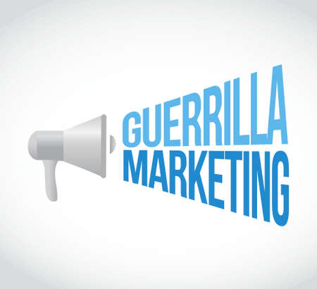 guerrilla: guerrilla marketing megaphone message concept illustration design graphic Illustration