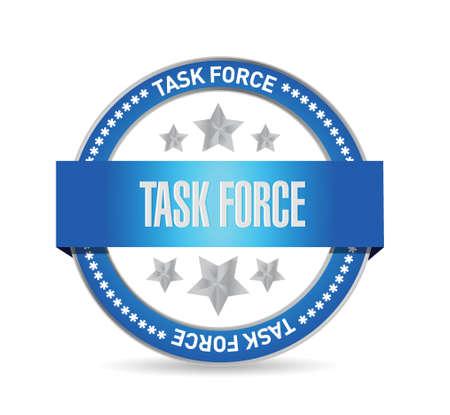 force: task force seal sign concept illustration design graphic Illustration