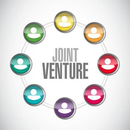 venture: Joint Venture people network sign concept illustration design graphic Illustration