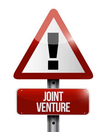 Joint Venture Warnzeichen Konzept Illustration Design Grafik