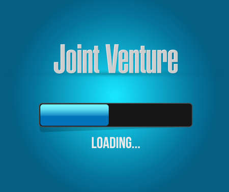 Joint Venture loading bar begrip teken illustratie grafisch