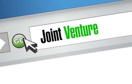 joint venture: Joint Venture website sign concept illustration design graphic