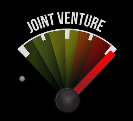 joint venture: Joint Venture meter sign concept illustration design graphic