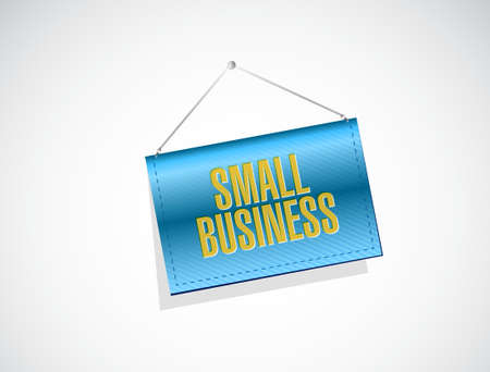 small business hanging banner sign concept illustration design graphic Ilustração