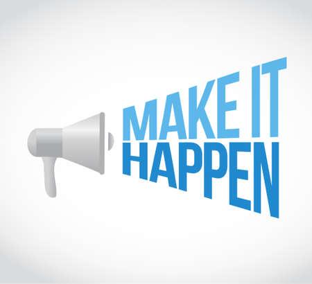 make it happening magnify sign concept illustration design graphic