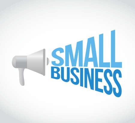 small business megaphone sign concept illustration design graphic Illustration