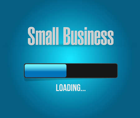 patronize: small business loading bar sign concept illustration design graphic