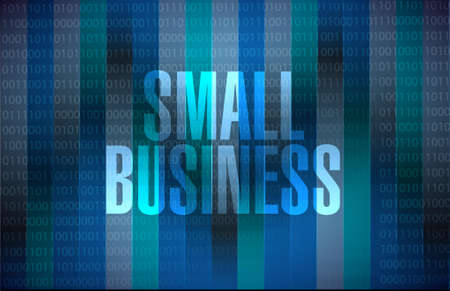 patronize: small business binary background sign concept illustration design graphic Illustration