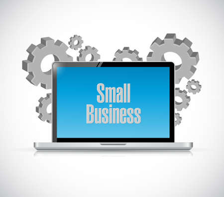 small business: small business computer sign concept illustration design graphic