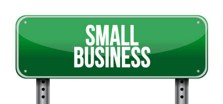 small business: small business road sign concept illustration design graphic