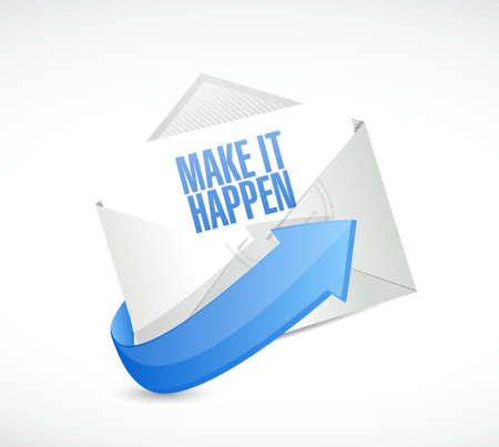 happening: make it happening mail sign concept illustration design graphic