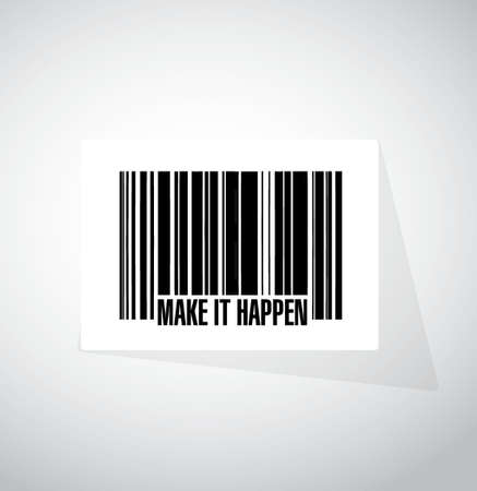 happening: make it happening barcode sign concept illustration design graphic