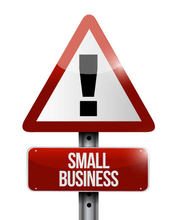 small business road warning sign concept illustration design graphic