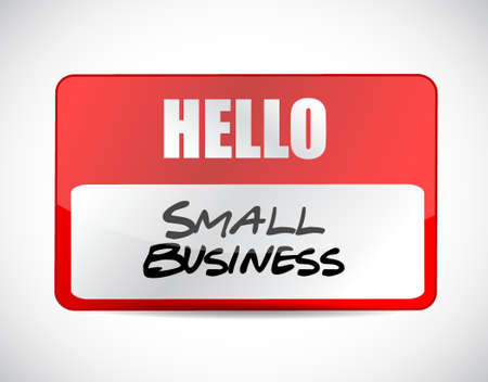 small business name tag sign concept illustration design graphic