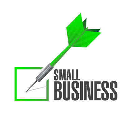 check sign: small business check dart sign concept illustration design graphic