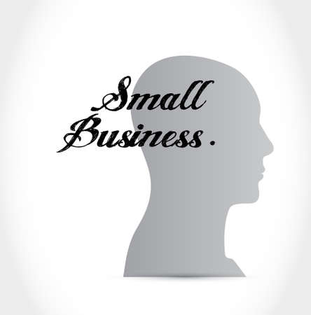 small business: small business thinking brain sign concept illustration design graphic