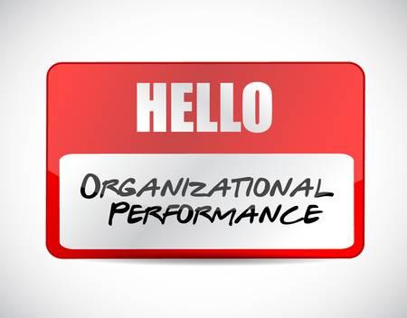 organizational: organizational performance name tag sign concept illustration design graphic