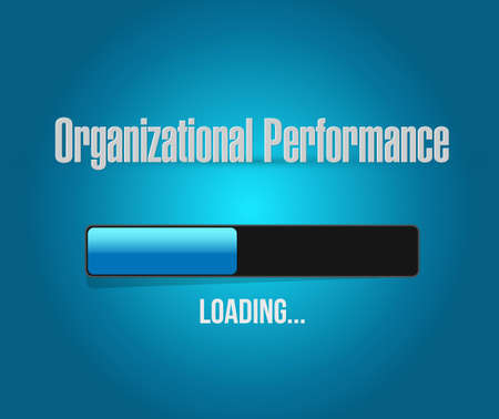 organizational performance loading bar sign concept illustration design graphic Illustration