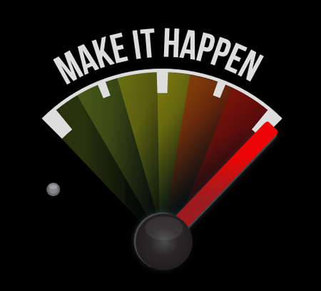 happening: make it happening meter sign concept illustration design graphic