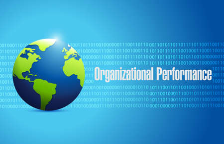 binary globe: organizational performance globe binary sign concept illustration design graphic Illustration