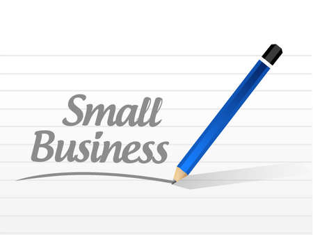 small business: small business message sign concept illustration design graphic Illustration