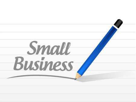 small business message sign concept illustration design graphic Illustration