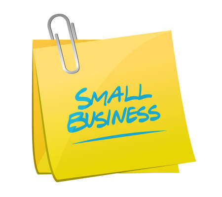 small business: small business memo post sign concept illustration design graphic