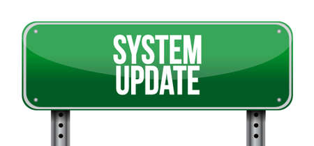 System update street sign concept illustration design graphic