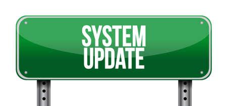 updating: System update street sign concept illustration design graphic