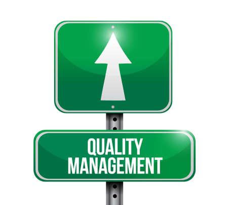 quality management road sign concept illustration design graphic