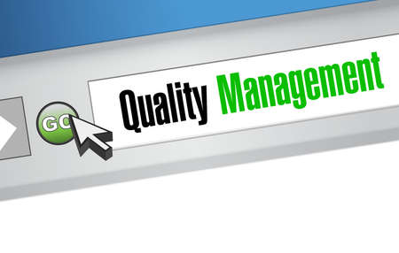 quality management website sign concept illustration design graphic