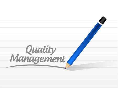 quality management: quality management message sign concept illustration design graphic