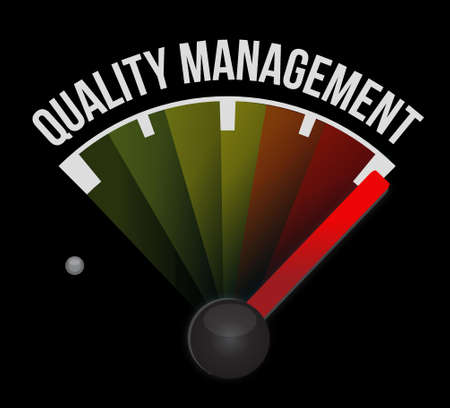 quality management meter sign concept illustration design graphic