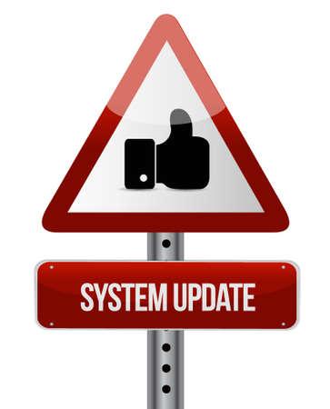 updating: System update like road sign concept illustration design graphic