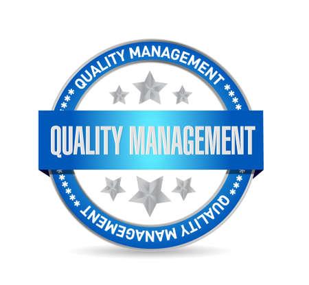 quality management seal sign concept illustration design graphic Illustration