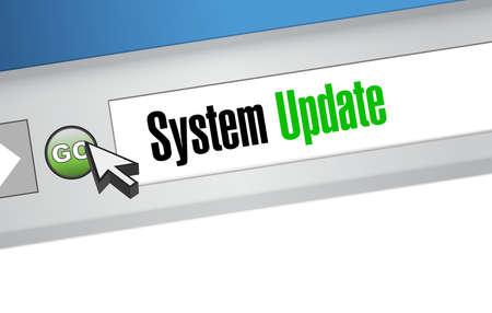 refreshed: System update website sign concept illustration design graphic