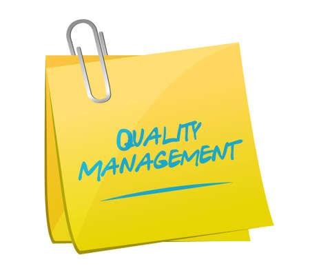 quality management: quality management memo post sign concept illustration design graphic Illustration