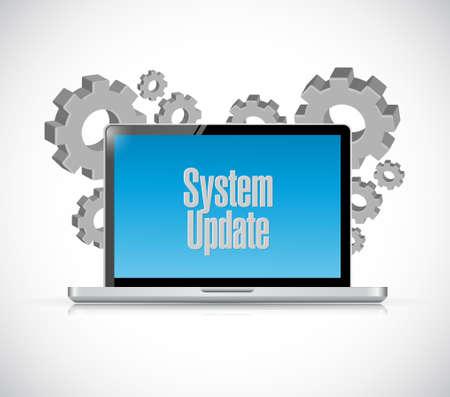 refreshed: System update computer sign concept illustration design graphic