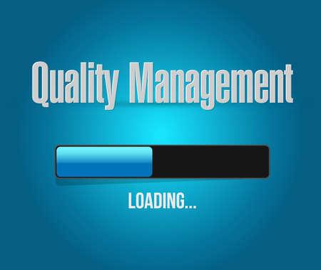 quality management: quality management loading bar sign concept illustration design graphic