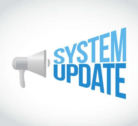 updating: System update megaphone sign concept illustration design graphic