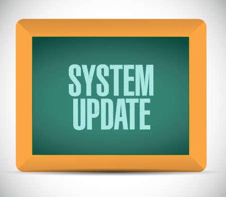 refreshed: System update blackboard sign concept illustration design graphic