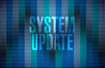 refreshed: System update binary sign concept illustration design graphic Illustration