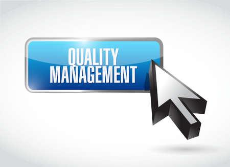 quality management: quality management button sign concept illustration design graphic