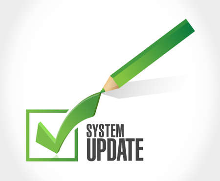 check sign: System update approval check mark sign concept illustration design graphic
