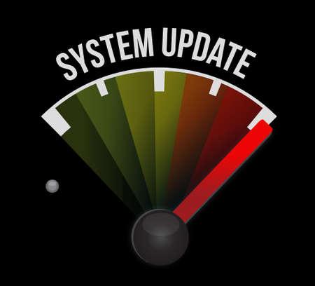 refreshed: System update meter sign concept illustration design graphic