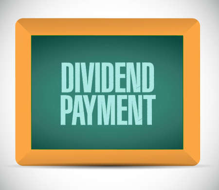 dividend: dividend payment chalkboard sign concept illustration design graphic
