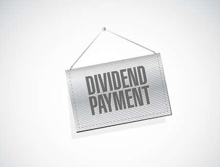 dividend: dividend payment banner sign concept illustration design graphic Illustration