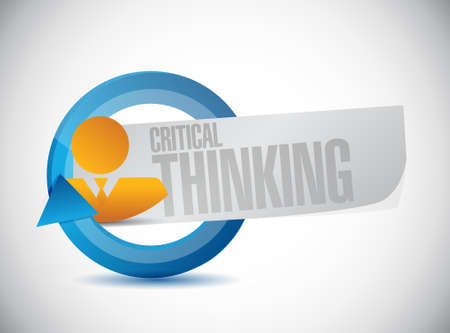 critical thinking: Critical Thinking avatar sign illustration design graphic