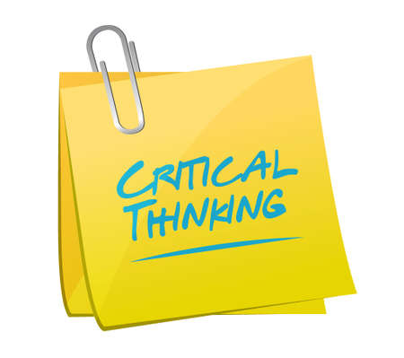 critical thinking: Critical Thinking memo post sign illustration design graphic Illustration