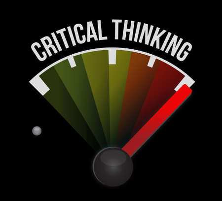 critical thinking: Critical Thinking meter sign illustration design graphic
